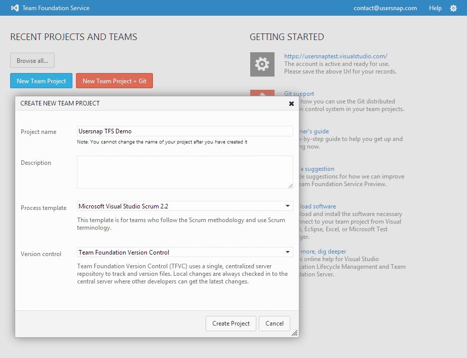Setting up Team Foundation Server Online