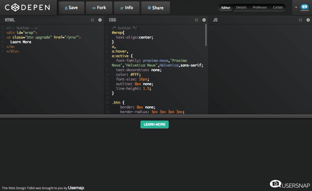 Kippt gradient button in HTML & CSS