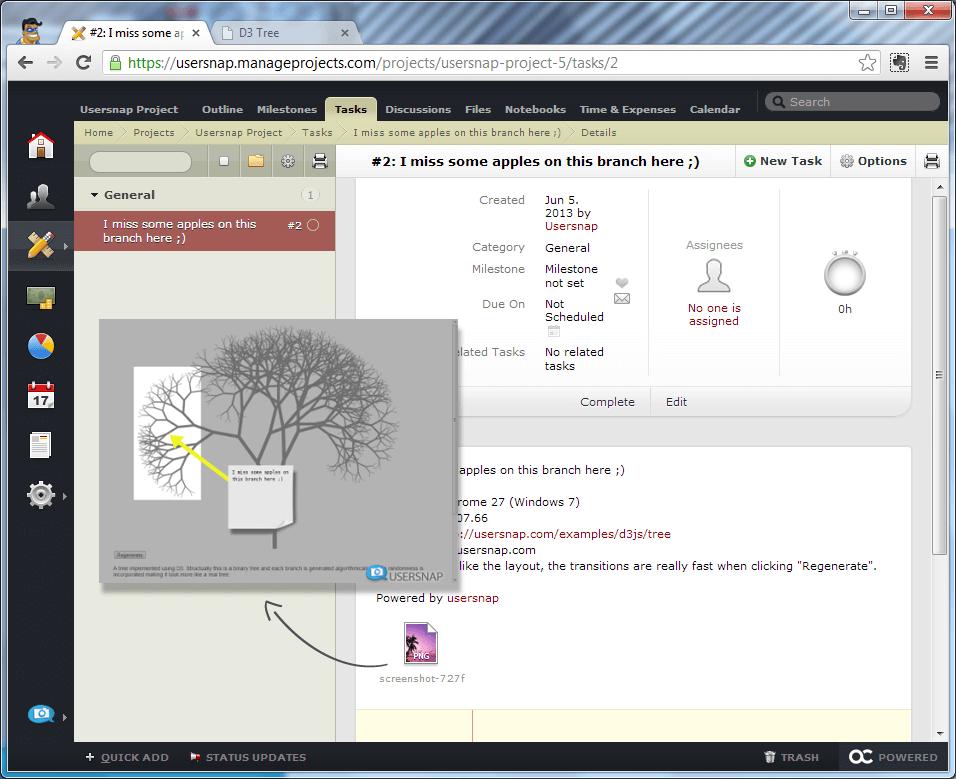 Visual Feedback in activeCollab