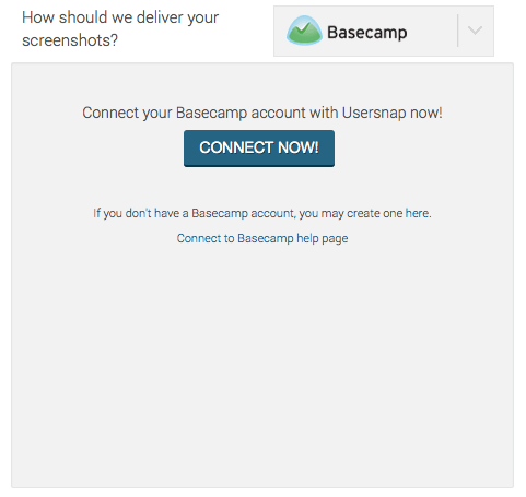 Connect Usersnap with Basecamp