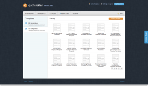 Quoteroller comes with a lot of predefined proposal templates!