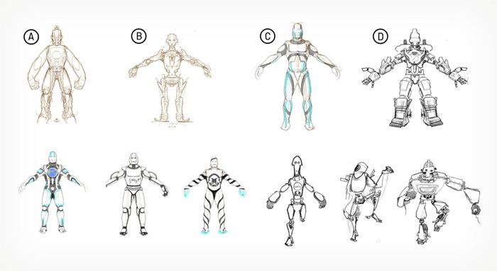 Little Miss Robot Samsung Dance Battle Concept Drawing
