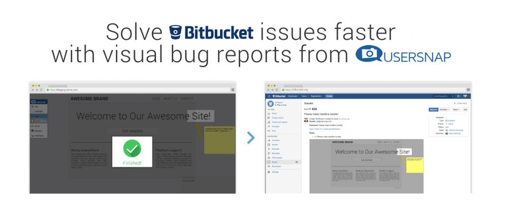 bitbucket integration usersnap bug tracker
