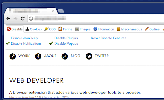 web developer chrome extensions for developers