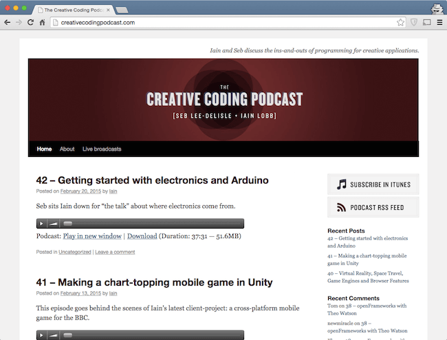 creative coding podcast - web dev podcast