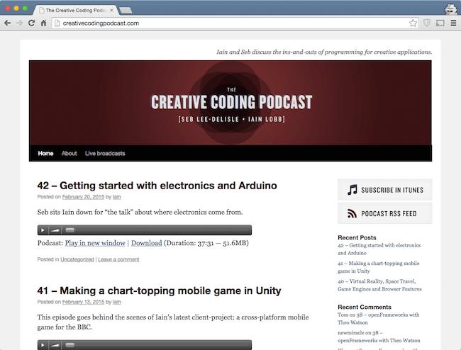 creative coding podcast - web dev podcast