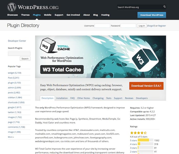 w3 total cache wordpress