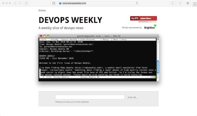 devops weekly newsletter best web developer newsletter