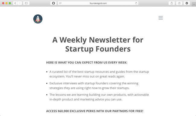 foundersgrid newsletter