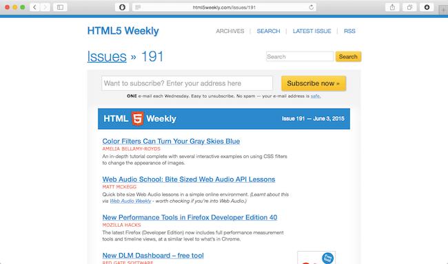 20 fantastic web development newsletters worth reading!