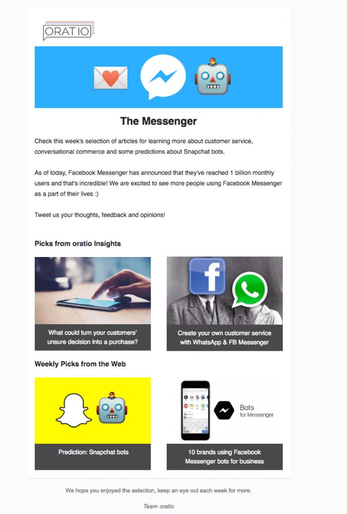 the messenger newsletter