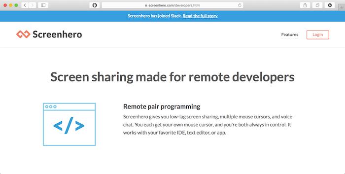 screenhero for remote developers