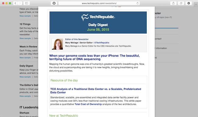 techrepublic newsletter