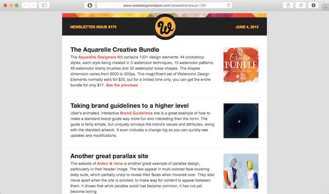 webdesigner depot newsletter best web dev newsletters