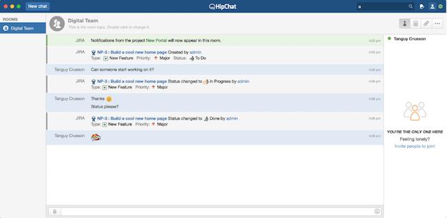 hipchat jira integration for developers