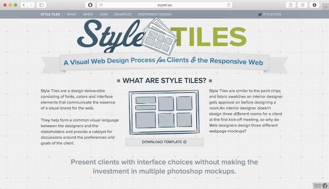 design in the browser with style guide