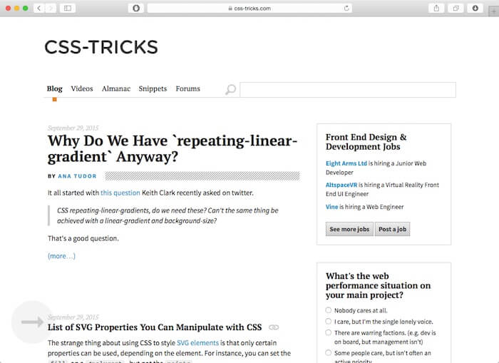 web design blog css tricks
