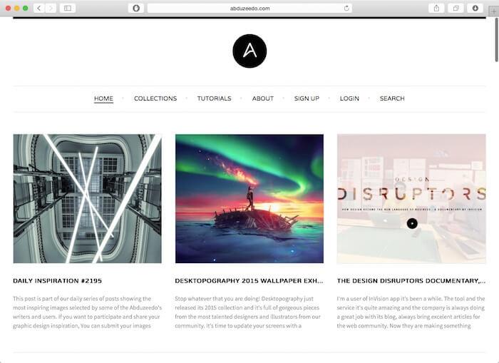 abduzeedo最好的网页设计博客