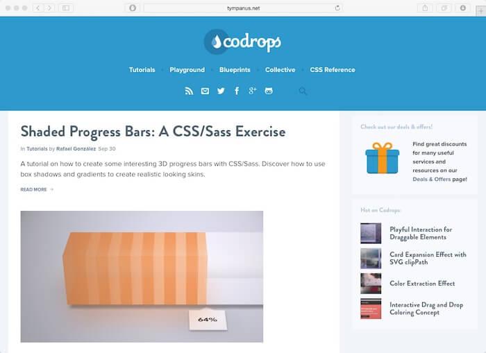 codrops best web design blogs