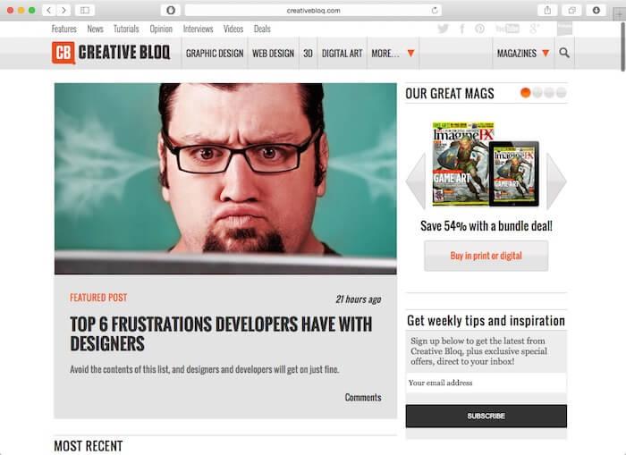 创意bloq网页设计博客