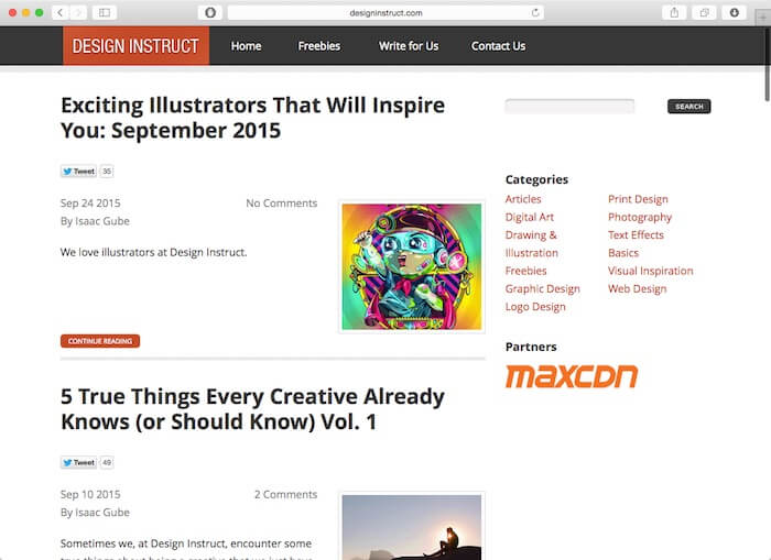 design instruct web design blog