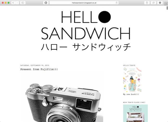 来自日本网页设计师的你好三明治博客