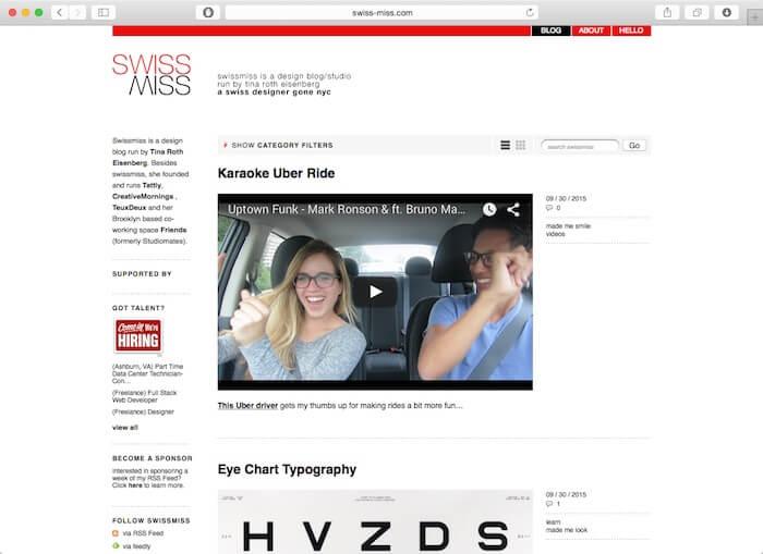 swiss miss web design blog