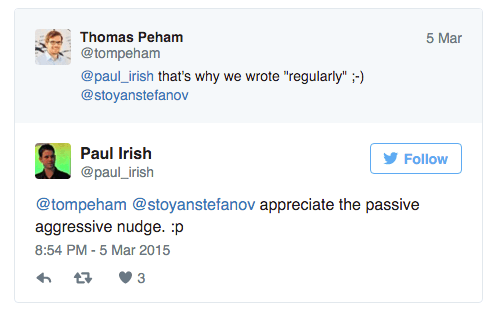 paul irish twitter conversation