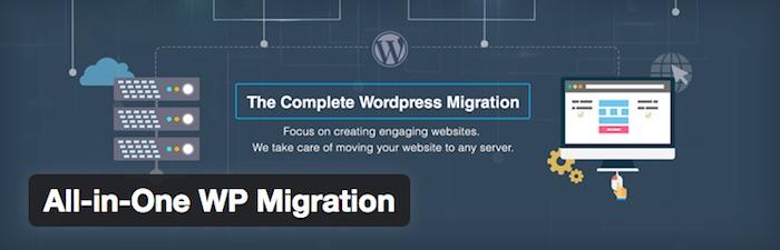 all-in-one migration wordpress plugin for web development