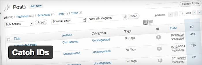 catch IDs WordPress plugins developers and designers