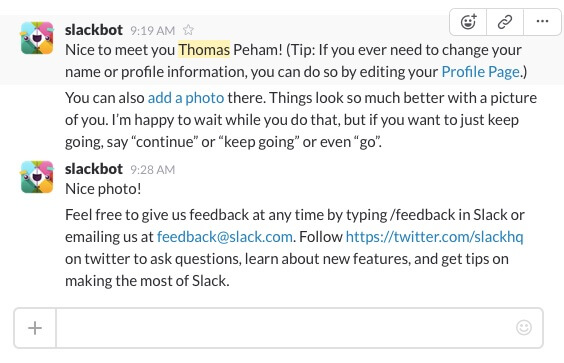 web development 2016 slack bots and AI