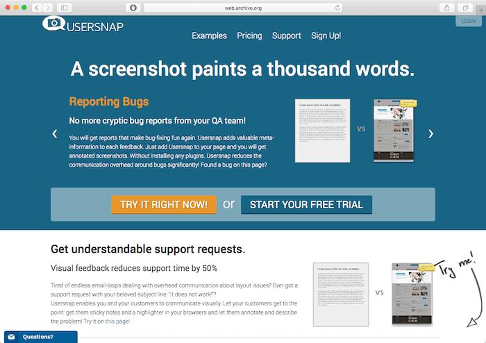 usersnap website relaunch 2013