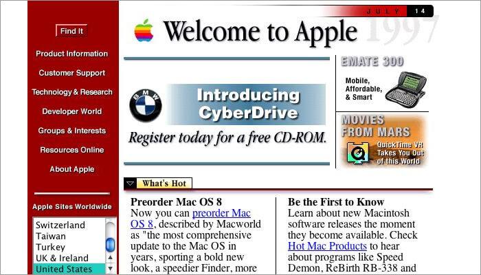 web design old