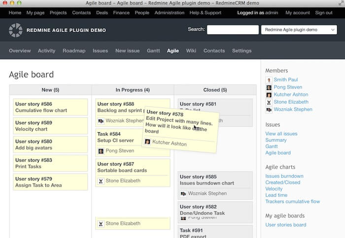 Redmine Open Source Bug Tracking Tool