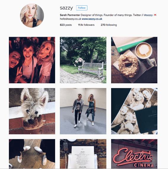 sarah parmenter instagram