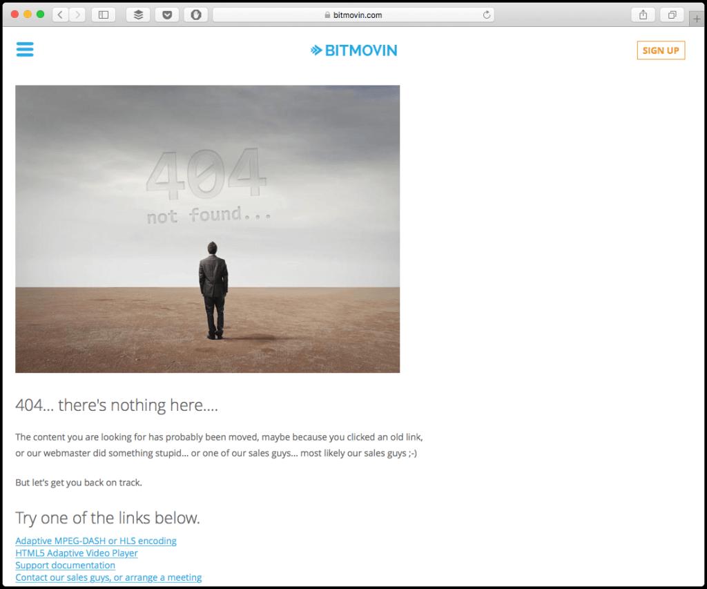 bitmovin 404 page