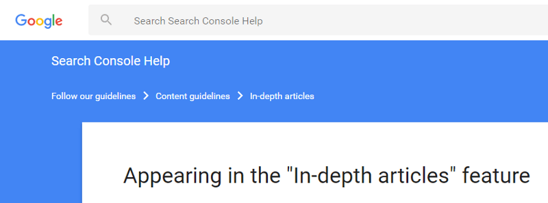 breadcrumbs google website