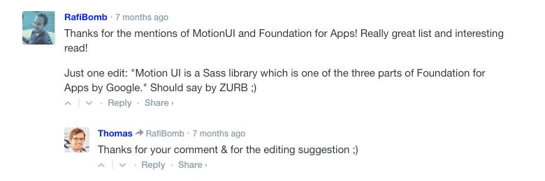 community feedback articles writing