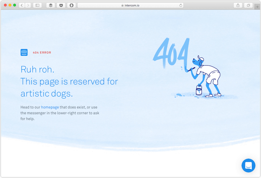 intercom 404 page
