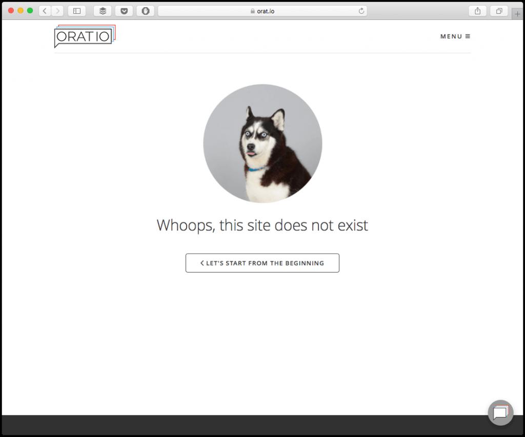 oratio 404 page