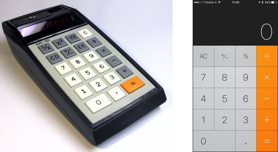 skeuomorphic button design