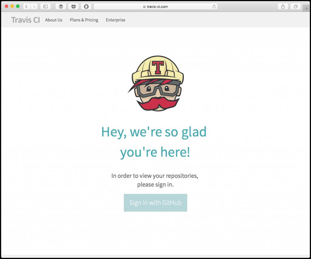 travis ci 404 page