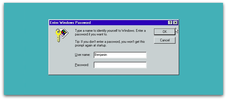 windows 98 user onboarding