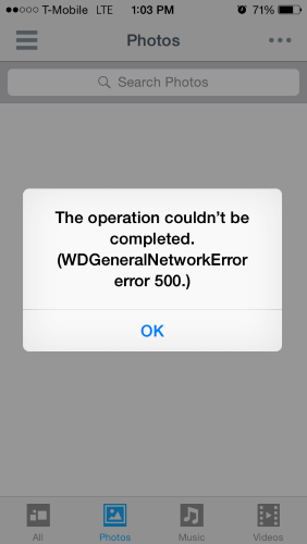 mobile error messages developer