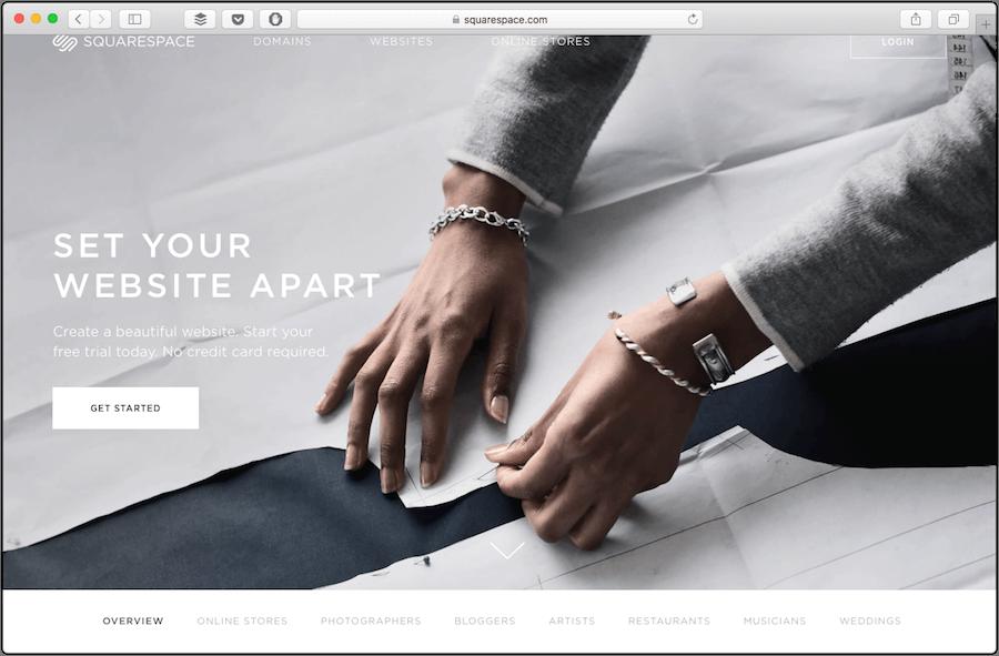 WordPress alternative Squarespace