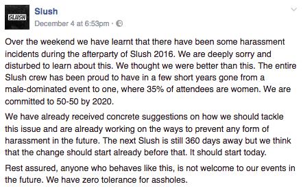 slush facebook posts