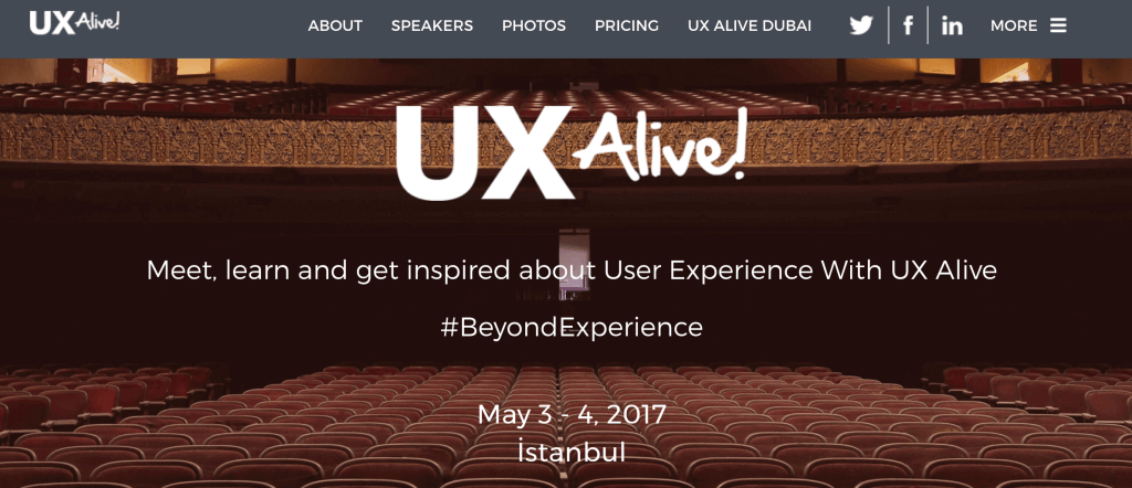 ux alive istanbul 2017