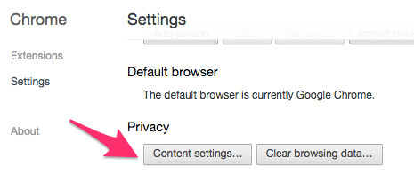 Content Settings
