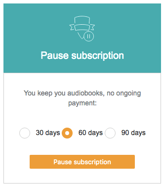 audible pause account user offboarding