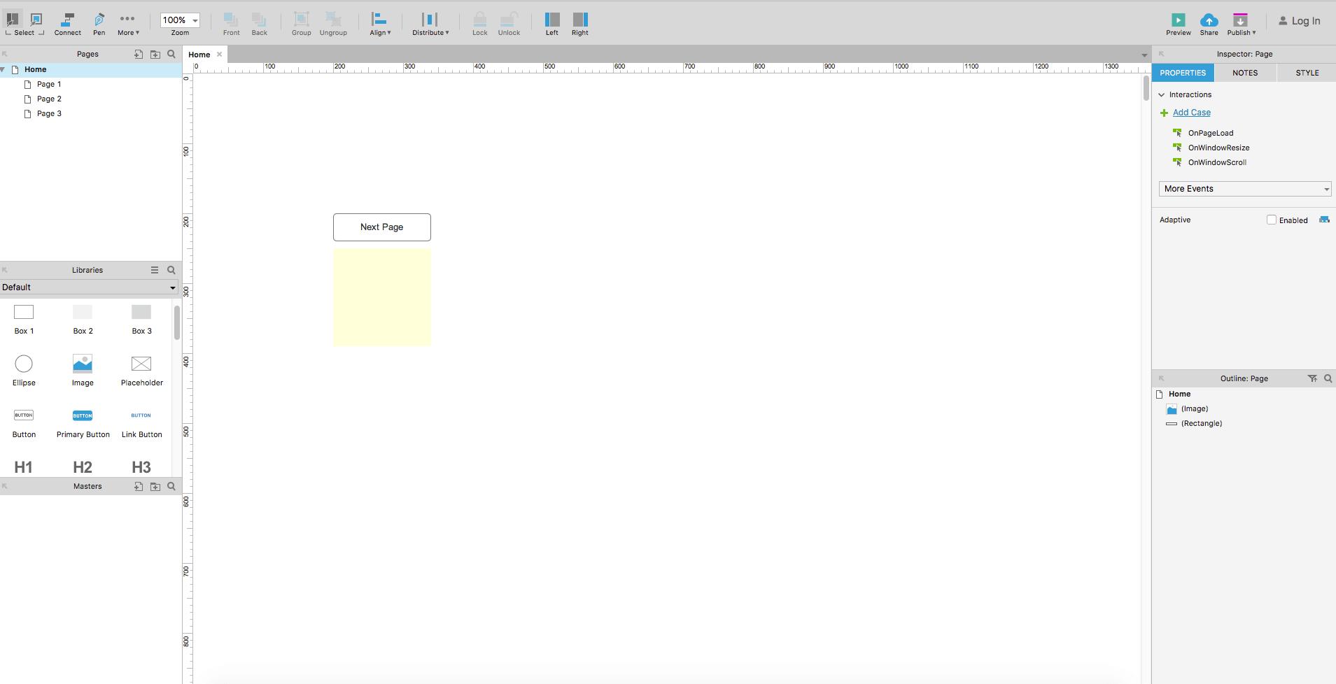 axure product screenshot